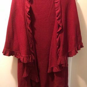 A wine / red shawl- cape